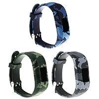 Large Replacement Bands and Straps for Garmin vivofit JR & vivofit JR.2 & vivofit 3, [fits 6~8.5 inch wrists] (3pack D)