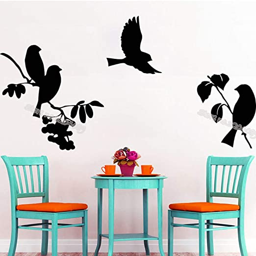 yaoxingfu Bird Hub Tatuajes de Pared Rama de árbol Pegatinas ...