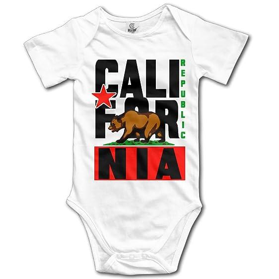 Funny Cotton California Republic Bear Flag Sonoma Baby Onesie Short Sleeve Bodysuit