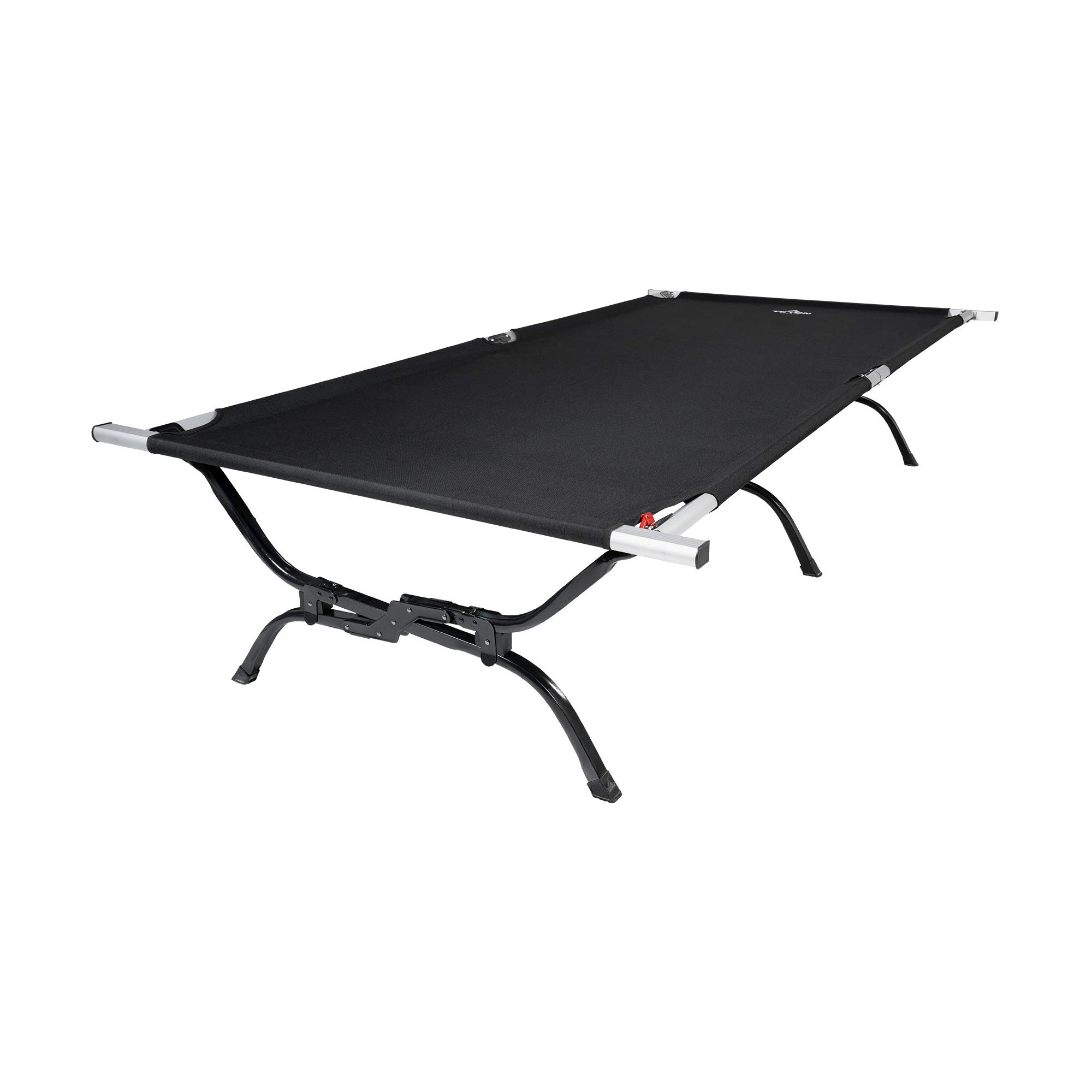 TETON Sports Outfitter XXL Camping Cot with Patented Pivot Arm; Camping Cots for Adults; Folding Cot Bed; Easy Set Up; Storage Bag Included, Black - 120A by TETON Sports