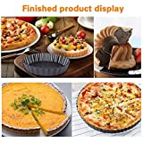 AOMGD 3 Pack Tart/Quiche Pan Set with Removable