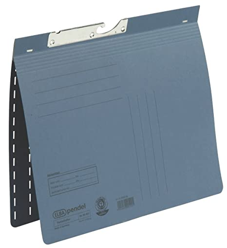 Elba 100560093 transparentes de pizarra, estante, Colgantes, accesorios – Archivador colgante (Azul