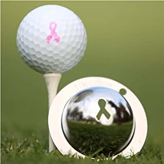 product image for Tin Cup Breast Cancer Awareness Golf Ball Marking Stencil, Steel