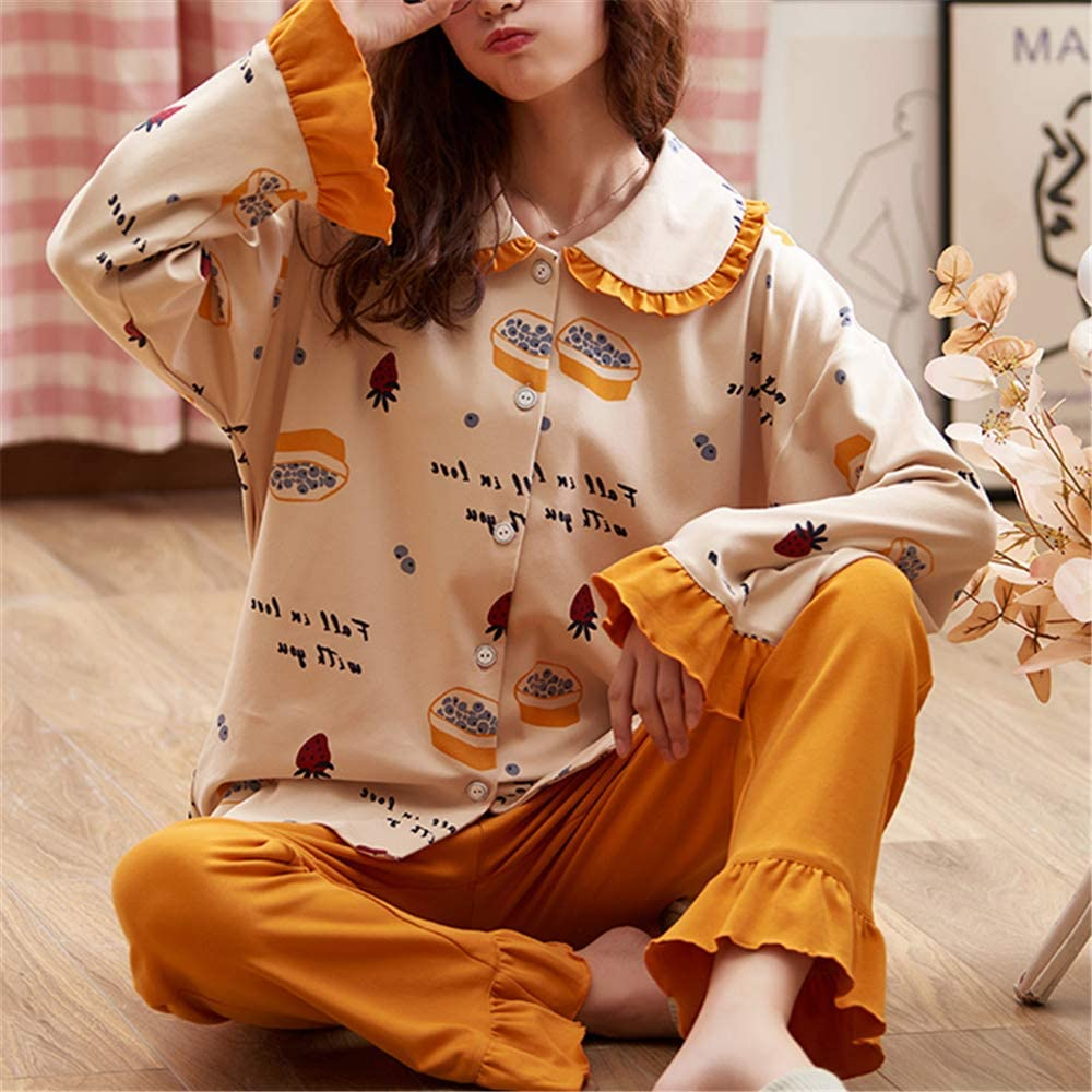 DUXIAODU Pijama de algodón para Mujer   no lastima la Piel ...