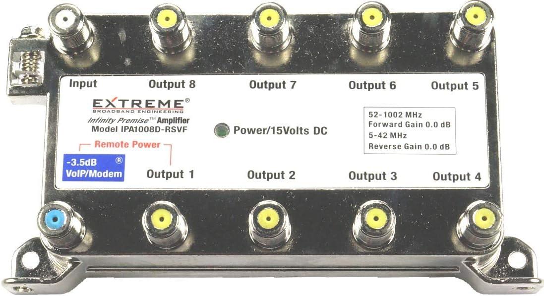 Extreme Broadband IPA1008D-RSVF 8 Way Splitter