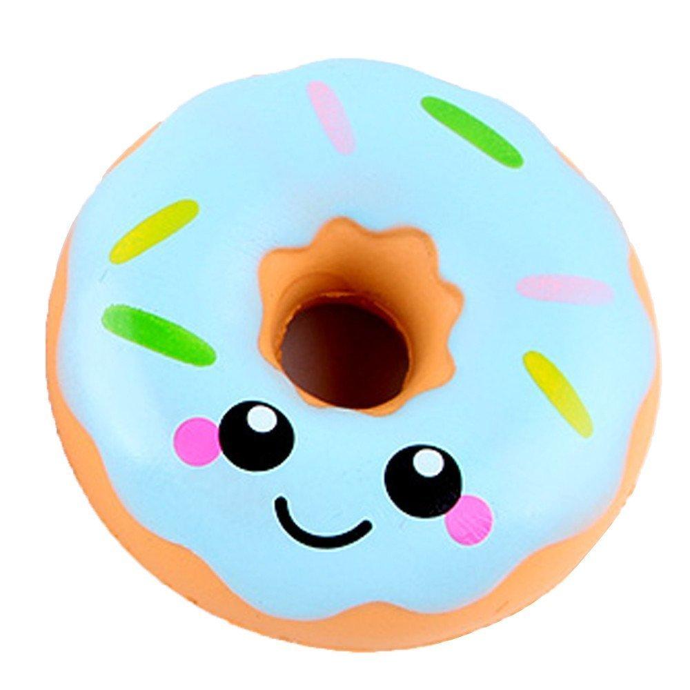 Newin Star Squishy Spielzeug, Duftendes Langsam Steigendes Spielzeug in Niedlicher und Lebendiger Cartoonfigur Stressabbau Spielzeug, Donuts, 11 x 11 x 4 cm