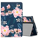 MoKo Case for All-New Amazon Fire 7 2017 (7' Tablet, 7th Generation - 2017 Release Only) - Slim Folding Stand Cover Case for Fire 7 inch Tablet with Alexa, Night Blossom (with Auto Wake/Sleep)