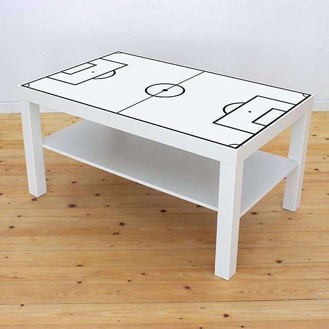 Muebles decorativo para campo de fútbol Color Blanco – Válido para Ikea Lack – Mesa de café – Pequeño – DIY mesa de futbolín – Muebles No incluye: Amazon.es: Juguetes y juegos