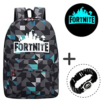Gorgebuy Luminous Fortnite Backpack - Galaxy Schoolbag Glow in Dark Mochila Mochila portátil Book Satchel Bolsa de Senderismo para niños niñas + Fortnite ...