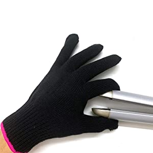2 Professional Heat Resistant Gloves for Hair Styling Heat Blocking for Curling, Flat Iron and Curling Wand Suitable for Left and Right Hands