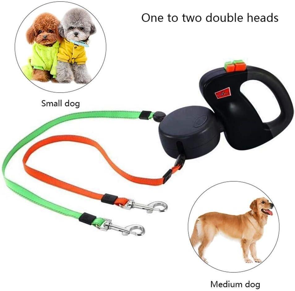 Geeignet F/ür Kleine Und Mittelgro/ße Hunde Doppelte 2 Hunde HUNDELEINE Automatisch Ausziehbare