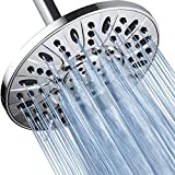 AquaDance High Pressure 6-Setting, 6-Inch Rainfall Shower Head – Tested to Meet US Quality Standards, Angle-Adjustable, with Tool-Free Installation – Chrome Finish