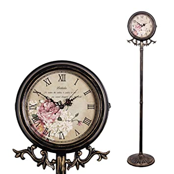 Amazon Com Weeday Metal Floor Clock American Retro Country