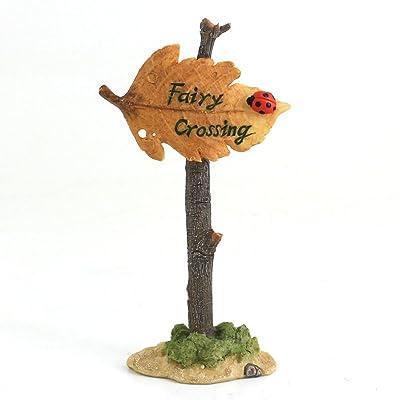 Top Collection Miniature Fairy Garden and Terrarium Fairy Crossing Sign : Garden & Outdoor