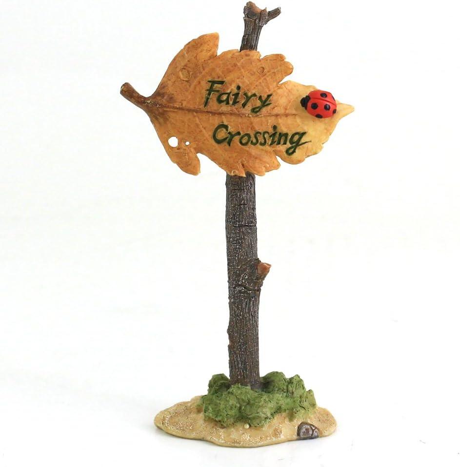 Top Collection Miniature Fairy Garden and Terrarium Fairy Crossing Sign