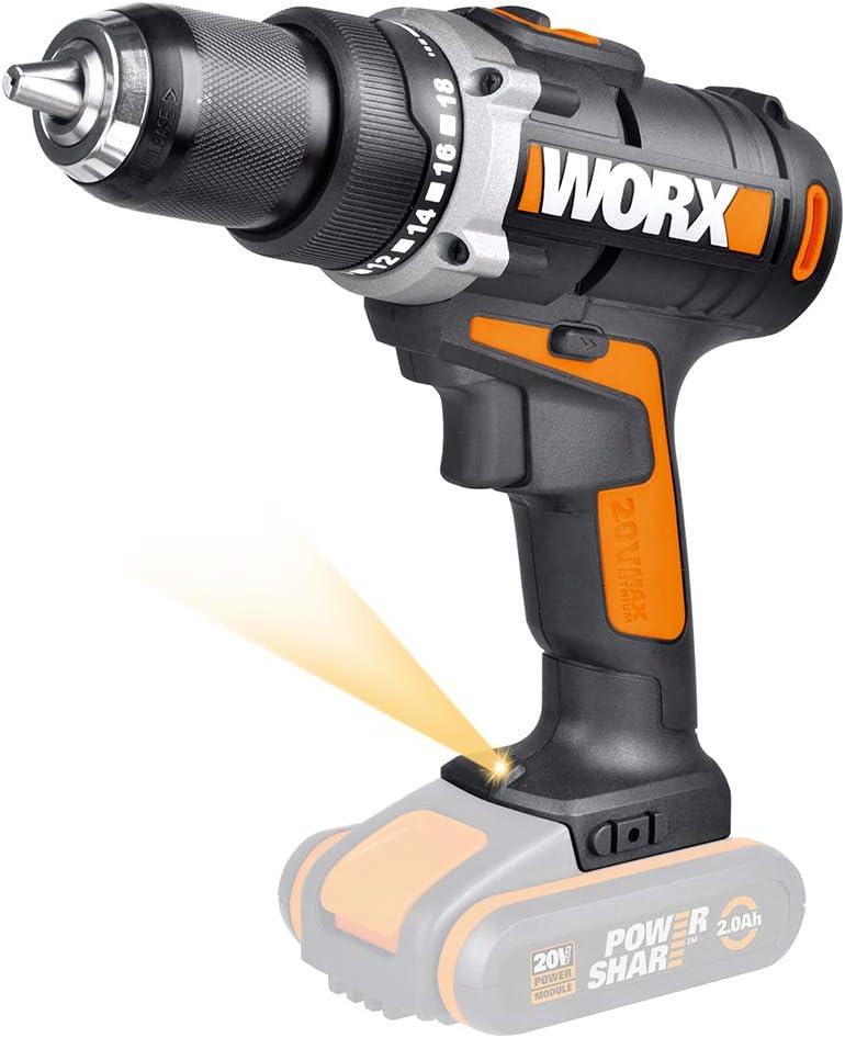 WORX WX183.9 - Taladro Atornillador a batería 20V S/bat