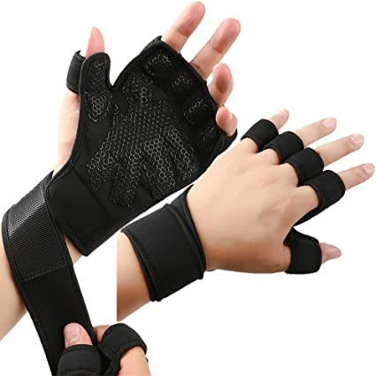 Powerlifting Wrist Support Best for Men/&Women Body Building Full Palm Protection /& Extra Grip Crossfit Cross Training New Fit Ventilated Weight Lifting Gym Gloves