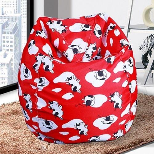 Bean Bags Chairs, Bean Bags Bulk Unisex New BeanBag Indoor Bean Bag Sofa Lounge Chair, Bean Bags For Kids (Red Cows) (Monster Heavy Bag)