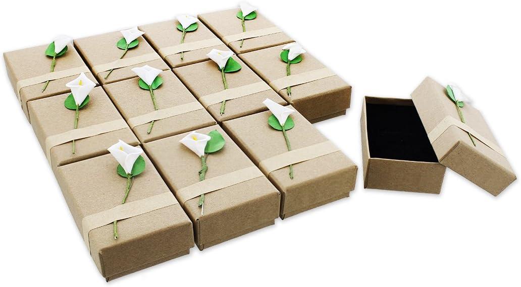 Juvale 12Piezas Caja de Regalo Set–Lily Joyas Caja para Aniversarios, Bodas, cumpleaños–3,5x 1x 2.2cm