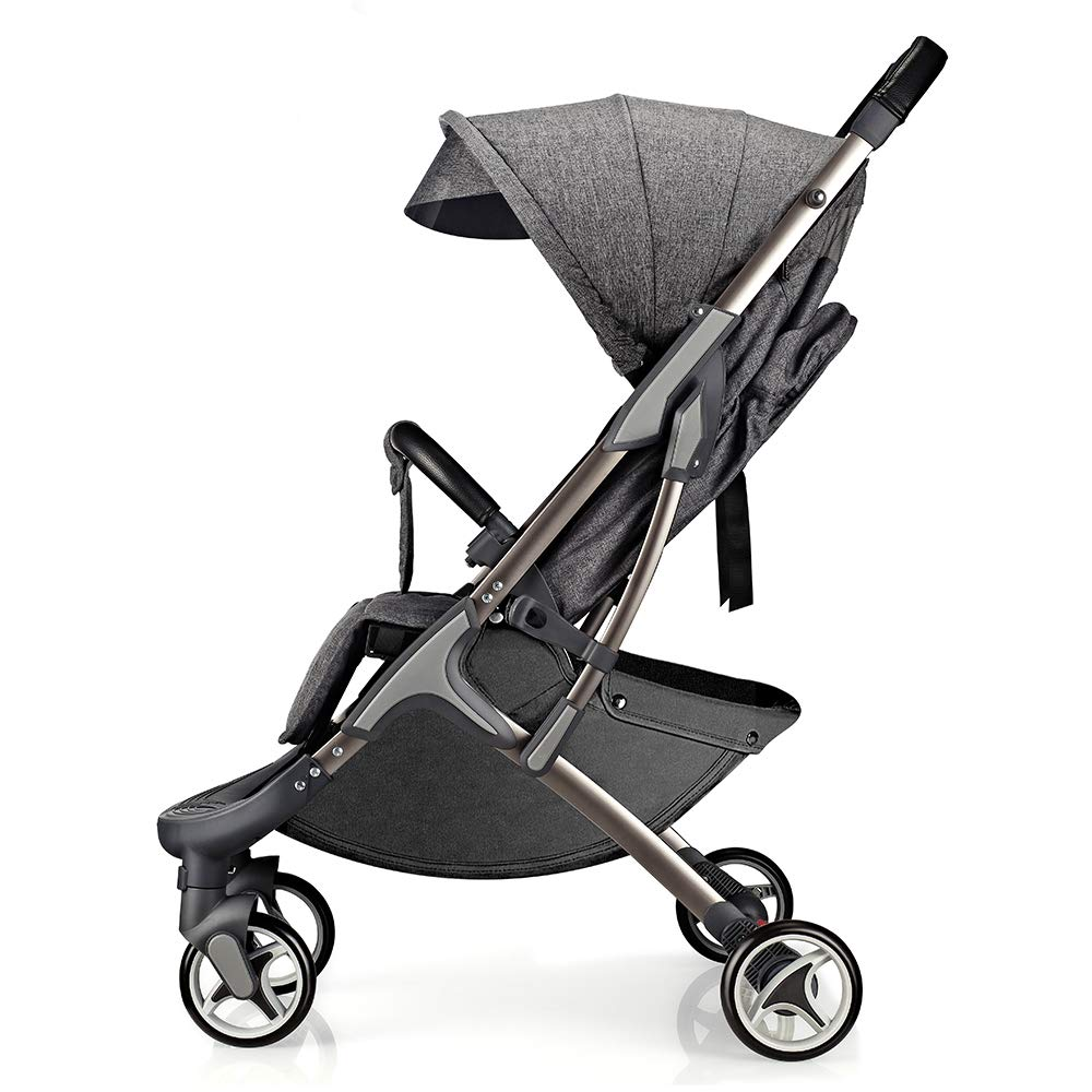 Hot Mom Lightweight Baby Stroller Buggy Convenience Easy Fold Compact Travel Stroller-Gray