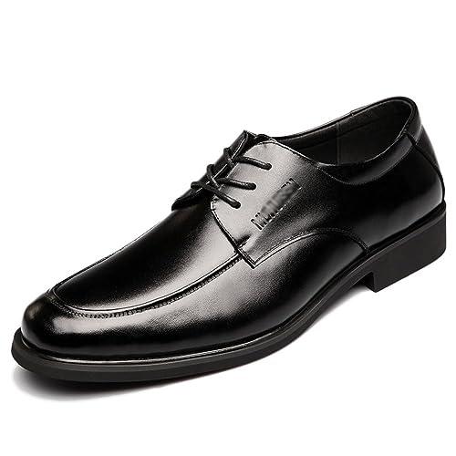 Zapatos con Cordones para Hombres Zapatillas De Vestir De Cuero para Hombre De Derby De Negocios Casuales Zapatos Uniformes De Estilo Clásico De Trabajo con ...