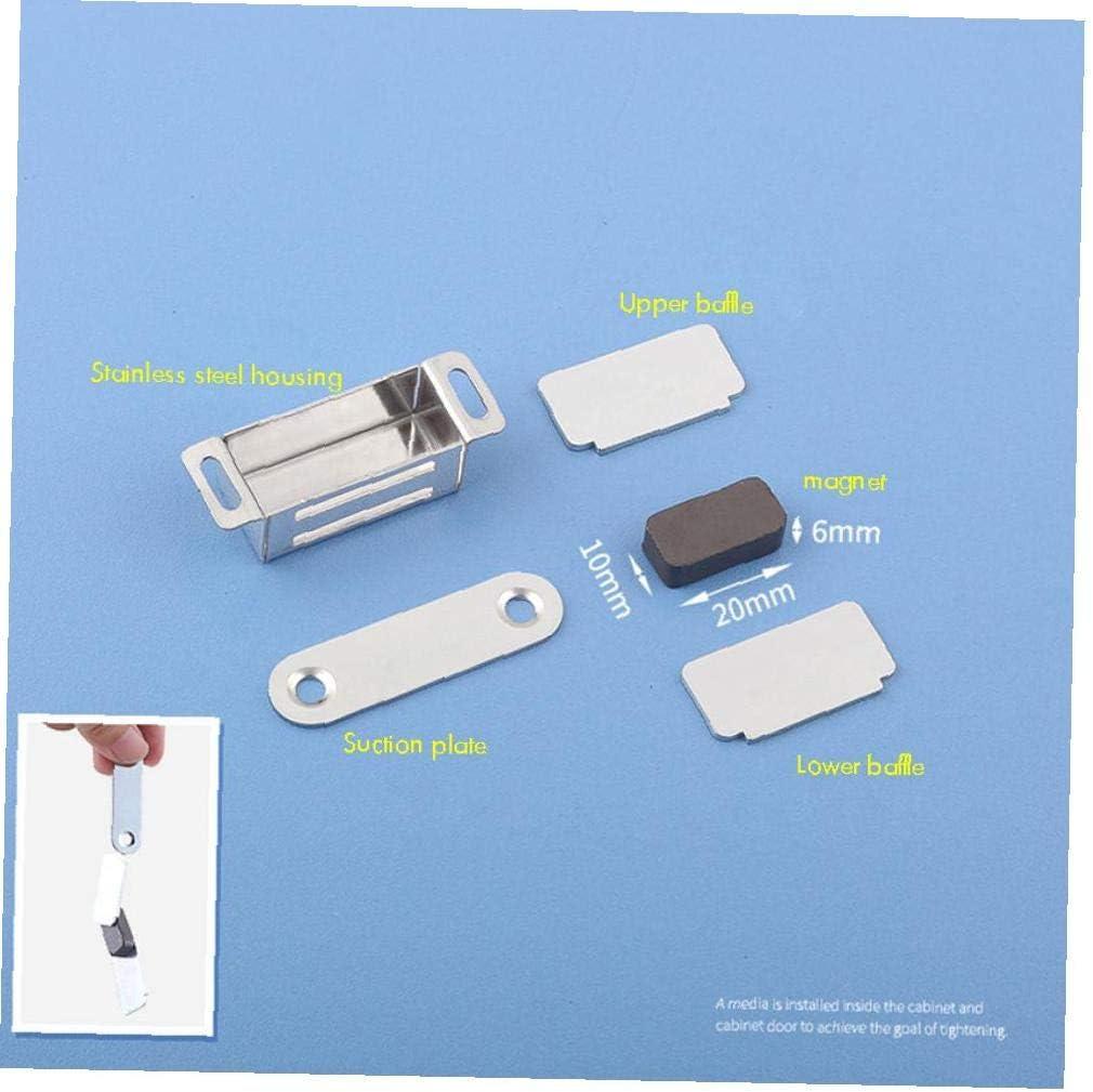 Angoter Edelstahl magnetische T/ür Fang Heavy Duty Magnet Latch Cabinet Catches f/ür Schr/änke Shutter Schrank M/öbel T/ür