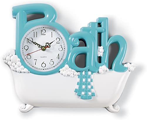 Bathroom Wall Clock, Blue