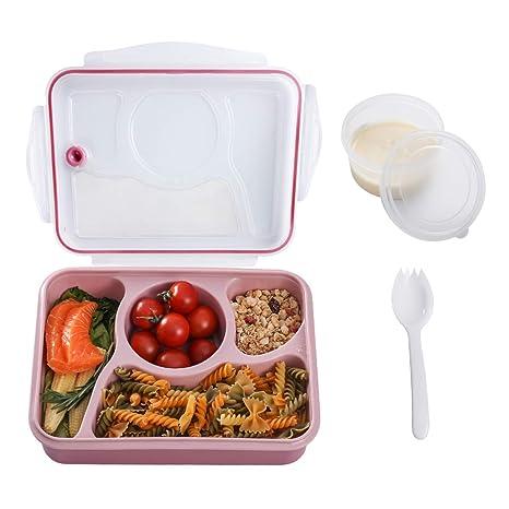 Amazon.com: Caja Bento para niños con 4 compartimentos ...