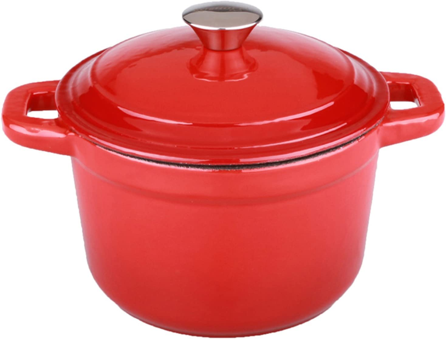 Berghoff Neo Cast Iron Stockpot with a Lid, Red, 7-Qt.