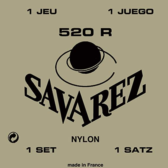 Savarez 520R Rectified Nylon High Tension Classical Guitar Strings.
