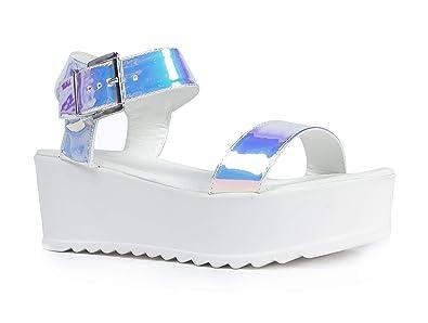 64b391caa0 Amazon.com | J. Adams Surf Buckle Sandal, Hologram, 11 B(M) US ...