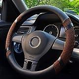 FLY5D universal antideslizante transpirable cuero PU cubierta de volante (M (14.35'---14.95'),...