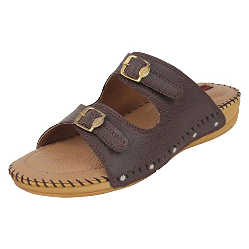 48a646b2cfbb 1 WALK Dr. Sole Brown Comfortable Flats  Buy Online at Low Prices in India  - Amazon.in