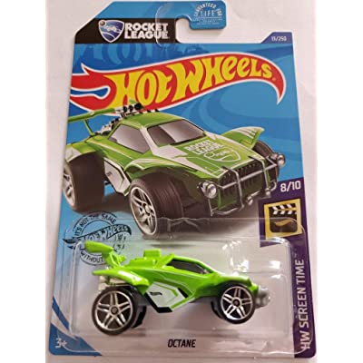 Hot Wheels 2020 Rocket League Hw Screen Time Octane, Green 13/250: Toys & Games