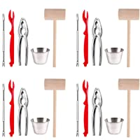 Artcome 22 Piece Seafood Tools Set for 4 People including 4 Lobster Crab Crackers...