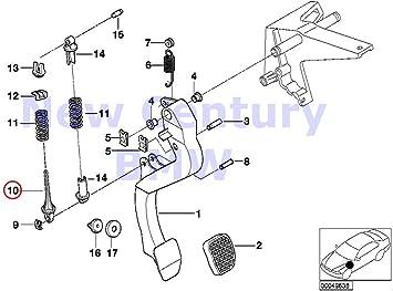 Genuine BMW E36 325i 328i M3 Z3 Clutch Pedal Spring Lock Pin 35311158661 NEW