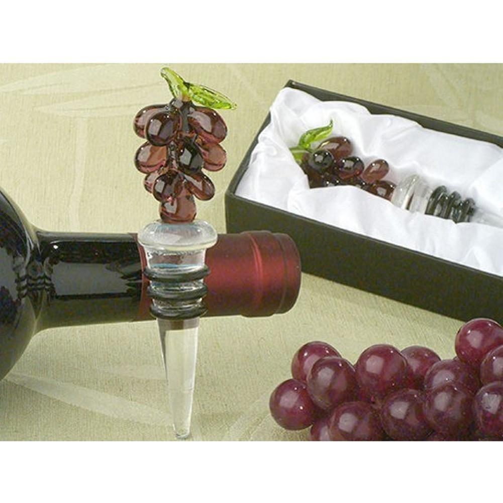 Murano Art Deco Collection Grapes Wine Stopper - 96 Pieces