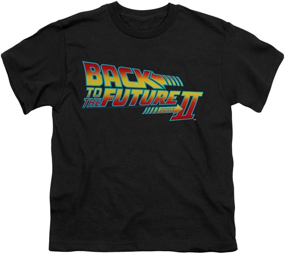 Back To The Future T-shirt de logo de la jeunesse dans le noir