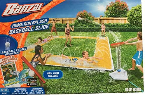 BANZAI 14ft x 14ft Homerun Splash Baseball Slide 4