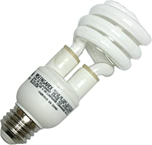 GE Lighting 78961 Energy Smart Spiral CFL 15-Watt (60-watt replacement) 920-Lumen T3 Spiral Light Bulb with Medium Base, 1-Pack