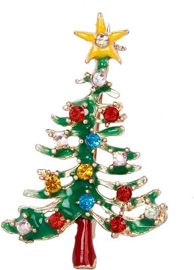 Générique Broche Pin Décor de Strass Multicolores Forme de Sapin de Noël  Cadeau de Noël: Amazon.fr: Vêtements et accessoires