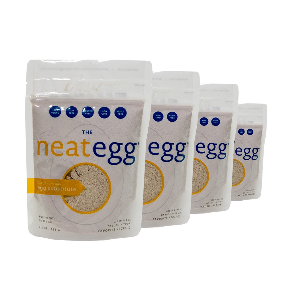 Neat Vegan - Egg (4.5 oz.) (Pack of 4) - Non-GMO, Gluten-Free, Soy Free, Egg Substitute Mix