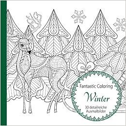 Winter Ausmalen Für Erwachsene Amazon De Fantastic Coloring Bücher