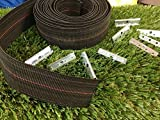 USA Premium Store WEBBING REPAIR KIT - 16' OF STRAP + 16 CLIPS FOR WICKER / RATTAN ELASBELT