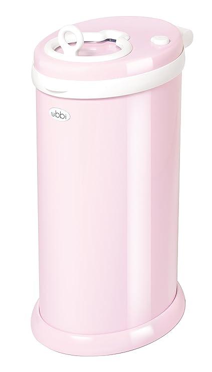 Ubbi U10001 - Contenedor de pañales, color rosa