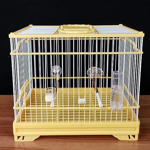 XWYGW Perrera Jaula de pájaro jaula de pájaro de plástico durable ...
