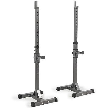 Gimnasio Fitness ajustable Squat Rack banco prensa peso levantamiento pesas soporte 2-PC: Amazon.es: Deportes y aire libre
