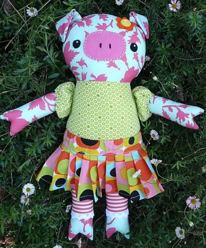 Melly /& Me PATTERN Oink Oink cute softie toy pig PATTERN