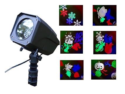 Illuminazione a led per natale per esterni con motivi