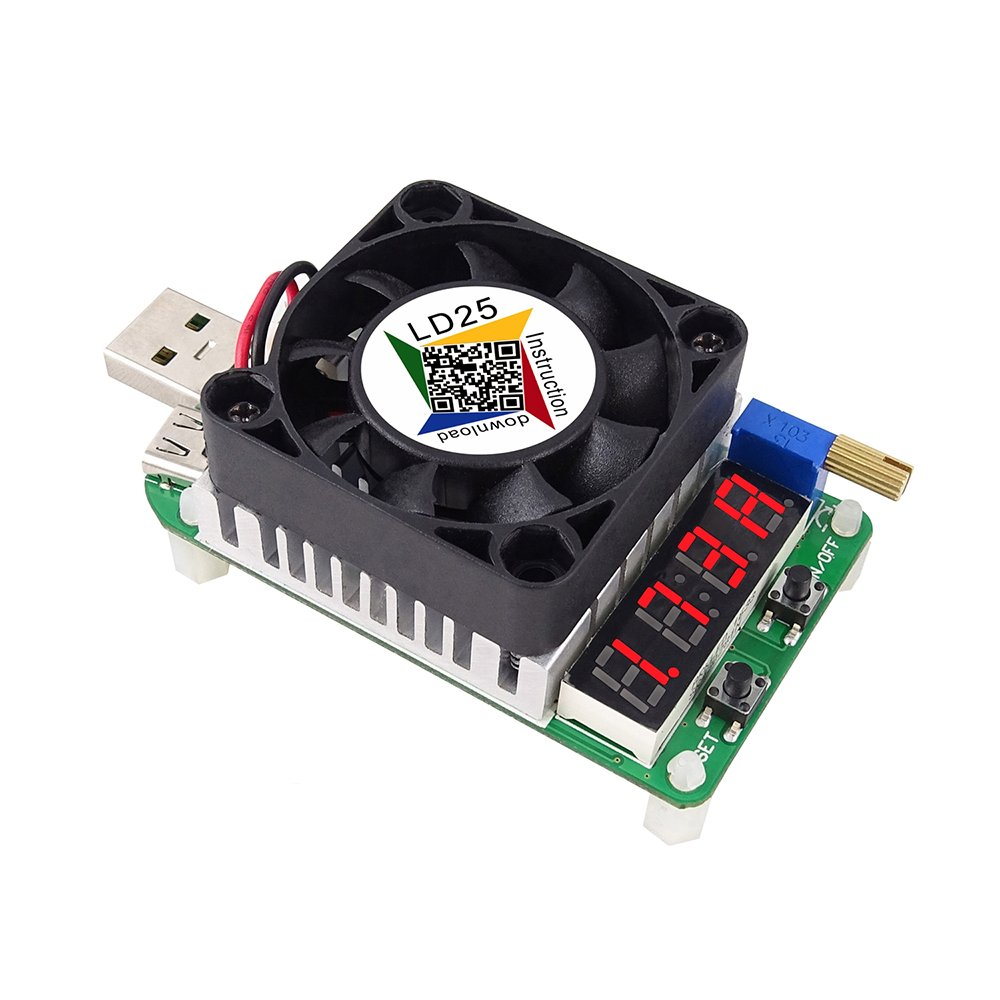 Onepeak LD35 Electronic Load Resistor USB Interface Discharge Battery Tester  Adjustable Constant-Current Electronic Load 35W